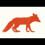 """Siebdruck """"Fuchs"""" (Moni Port) + POLLE #1"""