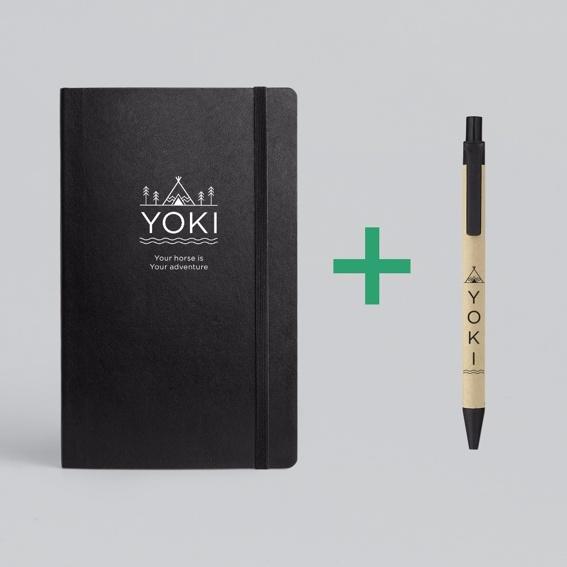 YOKI Planer + YOKI Stift + Dein Name im Buch