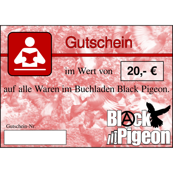 20€-Gutschein für Black Pigeon