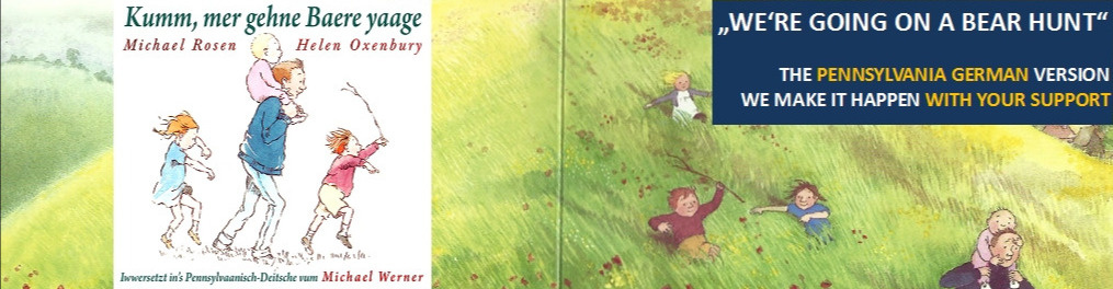 New Pennsylvania German kids book: We're Going on a Bear Hunt