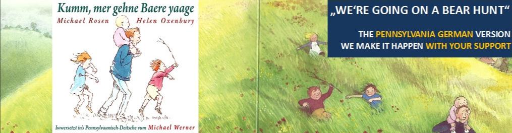 New Pennsylvania German kids book: We're Going on a Bear Hunt