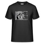 """1 x T-Shirt """"Foot Print"""" (mit Motiv und WaveFont-Aufschrift)"""