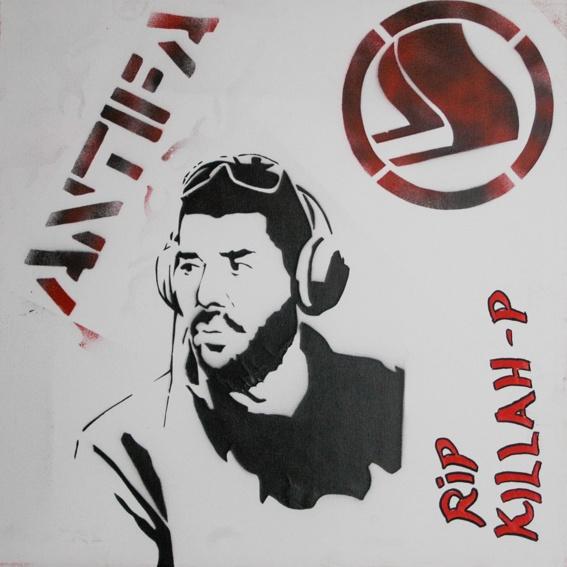 """""""Killed Rapper"""" / Politische Stencils aus Athen"""