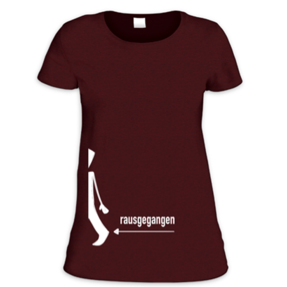 Rausgegangen T-Shirt für Frauen