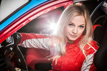 The best woman driver in the Silesian Rally