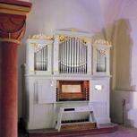 CD mit Musik von Telemann auf der Wäldner-Orgel