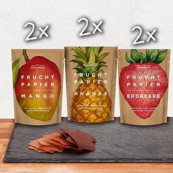 Kleiner Anfang - 6 x Fruchtpapier