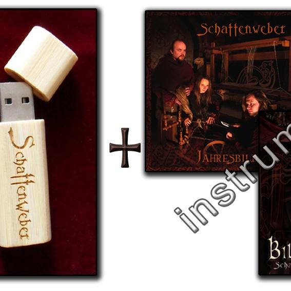 Instrumentalversionen beider Schattenweber CDs per Usb-Stick