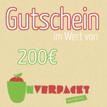 200,00€ Einkaufsgutschein