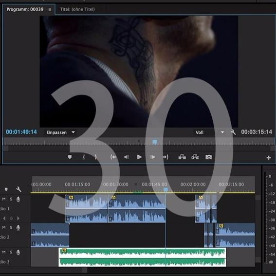 Filmvertonung bis 30 Minuten