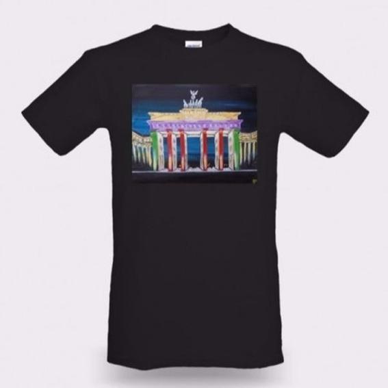 T-Shirt schwarz / Aufdruck: Brandenburger Tor