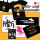 Stickerset + Goldener Aluhut-Bag + Shirt mit Motiv deiner Wahl