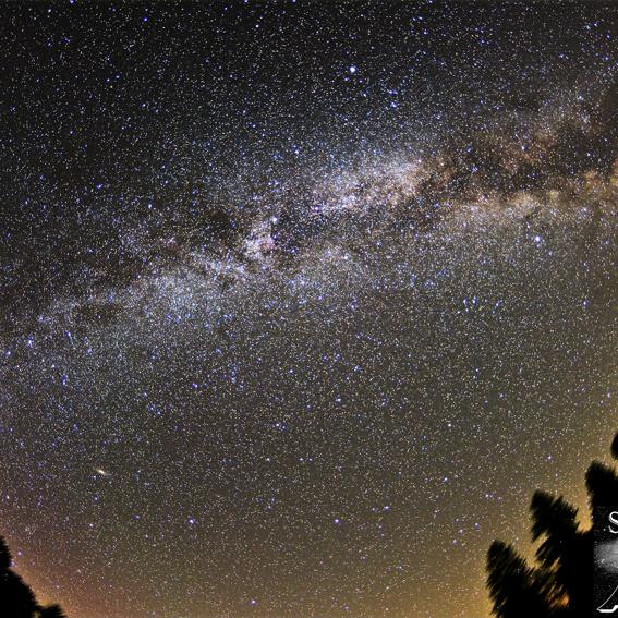 Postkarte: Harzer Nachthimmel