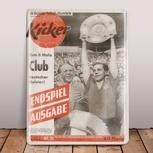"""Emaille-Schild """"kicker-Titel 1961"""""""