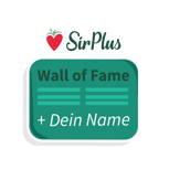 """Dein Name auf der """"Wall of Fame"""" in dem SirPlus Laden"""