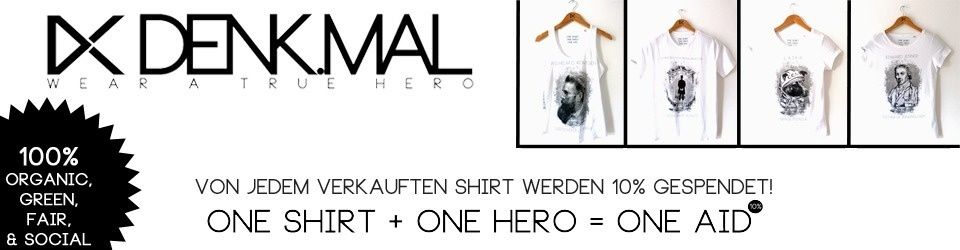 DENKMAL - T-Shirt Label / ONE SHIRT + ONE HERO = ONE AID