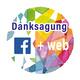 Danksagung auf Facebook und Website