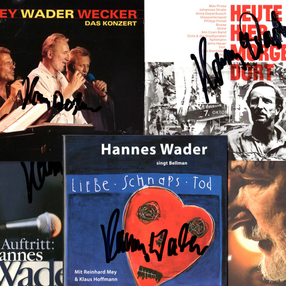Hannes Wader - CD Paket 1 (handsigniert)