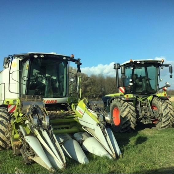 Mähdrescher oder Traktorfahrt