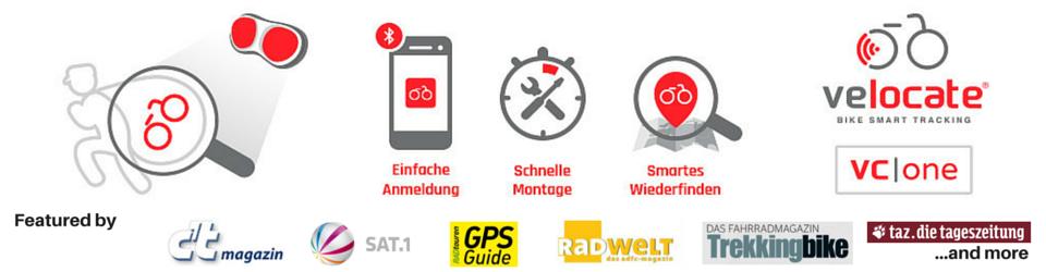 VELOCATE -  GPS Diebstahlschutz für Fahrräder