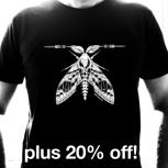 Shirt 'White Moth' plus 20% Rabatt auf rsfx Pedals