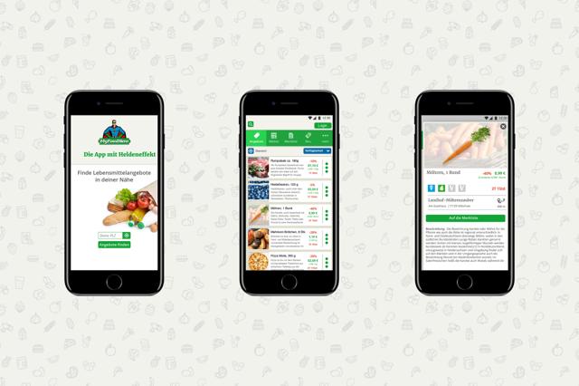 Onlineplattform für lokale Lebensmittelangebote