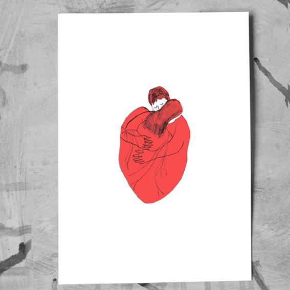 "DIN-A-3 ArtPrint ""Heart Hug"" - Sophia Weisstub"