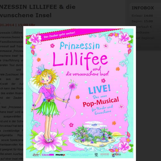 PRINZESSIN LILLIFEE - das Familienmusical am 05.01.