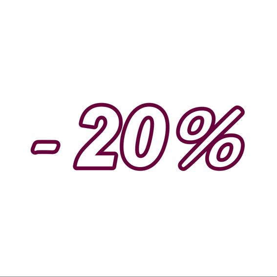 1 Jahr 20% Rabatt
