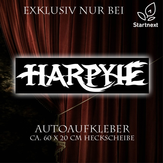 "Autoaufkleber ""HARPYIE"" weiß"