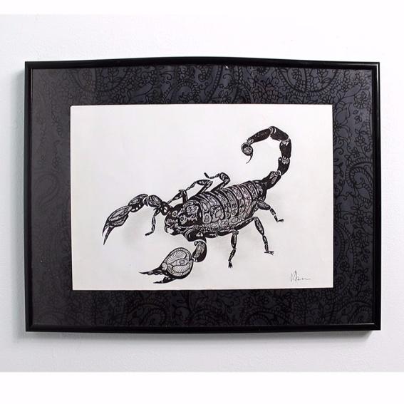 Scorpion Photo-Print Handsigniert