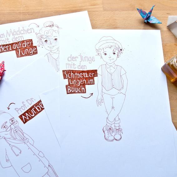 Signierter Original-Entwurf deiner Tales Lieblingsfigur