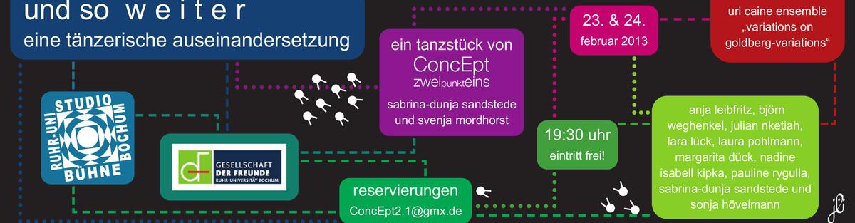 """""""und so w e i t e r. eine tänzerische auseinandersetzung"""" von ConcEpt2.1"""