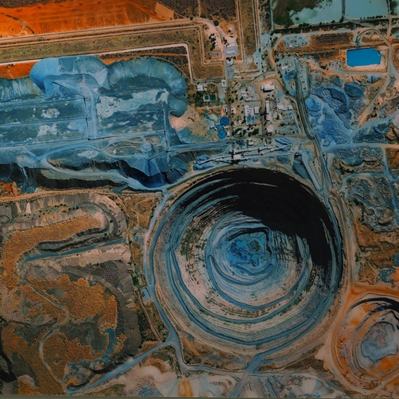 Satellitenbild auf Acrylglas 170x100 cm