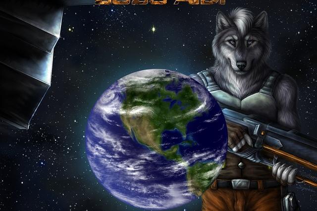 Comic zu meiner science fiction Geschichte 2020 AD
