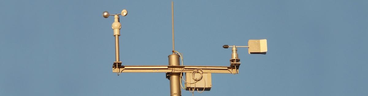 Eine Windmessstation für den Zeuthener See