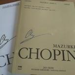 PWM Chopin Mazurken(zwei Bände) mit handschriftlicher Signierung und Anmerkungen der Künstlerin zu den eingespielten Mazurken