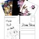 Handbeschriebene Grimoire-Postkarte