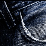Ich bekomme eine blaue Jeans.