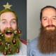 1 Woche Weihnachtsbart + Selfie + Insta-Story