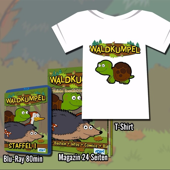 T-Shirt, Blu-Ray und Magazin