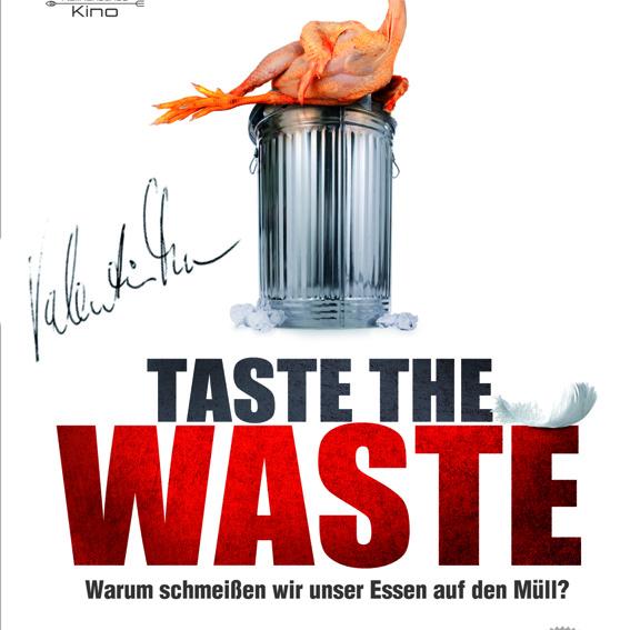 handsigniertes «Taste The Waste» Filmplakat