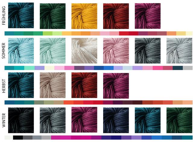 Welche Farbe Passt Zu Dir Garn Aus Tencel Zum Stricken Und Häkeln