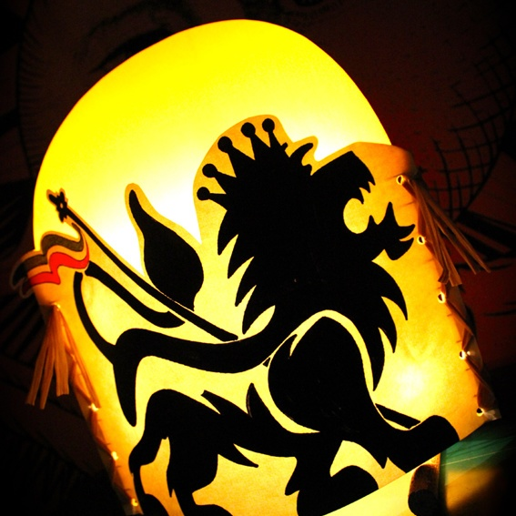 """Jah Light lamp """"Marching Lion"""", limited edition"""