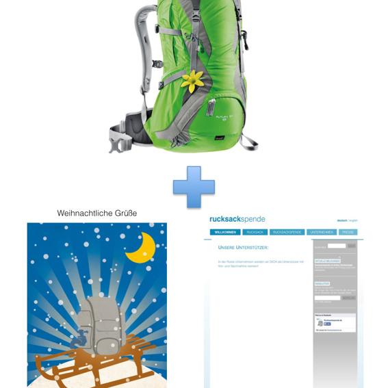 Deuter Rucksack Futura 30 SL (für Frauen) + Weihnachtskarte + Namensnennung