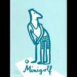 """Siebdruck-Plakat """"Minigolfer"""" (Philip Waechter) + POLLE #1"""