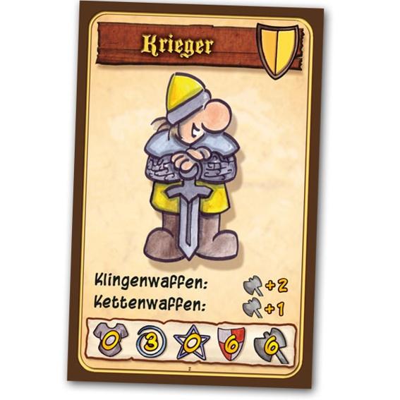 """""""Der Krieger"""" : Spiel mit Signatur und Skizze + signierter Druck des Covers (DIN A1) + T-shirt + 5 Lebenspunktekarten + Button + Danke auf der Homepage + Namensnennung in den Regeln"""