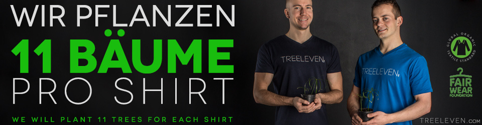 TREELEVEN .com | Für jedes Shirt pflanzen wir 11 Bäume
