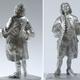 Vollplastische Johann-Sebastian-Bach-Zinnfigur, unbemalt