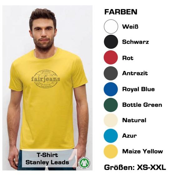 T-Shirt (Männer) Bio-Baumwolle, in  9 verschiedenen Farben mit unserem Logo